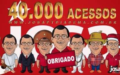 40.000 acesso no site, muito obrigado!