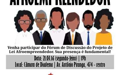 Convite: Fórum de Discussão 'Afroempreendedor'