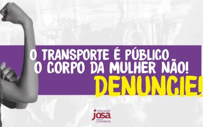O transporte é público, o corpo da mulher não. Abuso é crime
