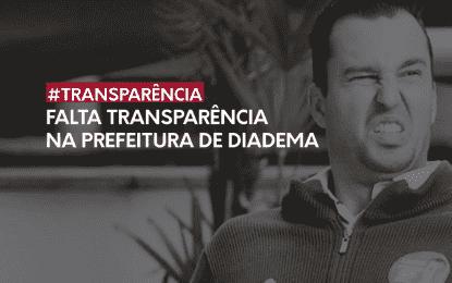 #Gestão | Falta transparência na Prefeitura Municipal de Diadema